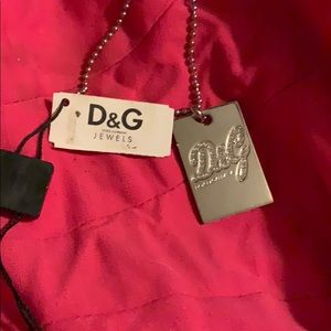 Dolce and Gabana dogtag necklace